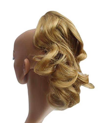 314 VANESSA GREY Toutes les couleurs disponibles, Petite Pince Extension De Cheveux Volumineuse Pour Queue De Cheval, Blond Doré Foncé