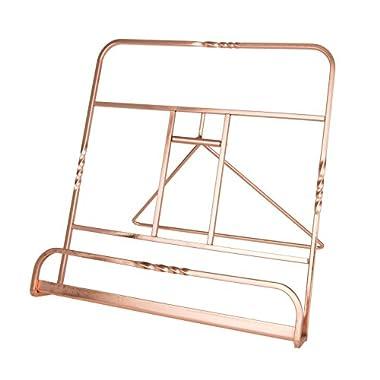 Creative Home 50231 Renaissance Copper Plated Cookbook Holder, Copper, 10  x 7-1/8  x 9-7/8