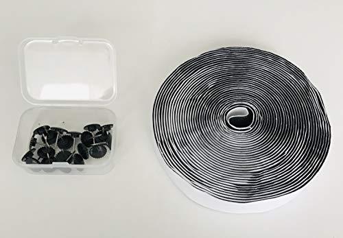 Door easy Klettband Selbstklebend für Fliegengitter, Fliegengittertüren, Insektenschutz Vorhänge, extra stark, 7m lang, ohne Flauschband