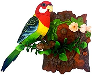 Unido Box Heat Sensor Chirping Bird with Sweet Sound and Body Move As It Chirps Vertical Red 57