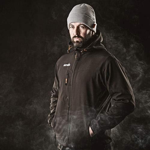 Scruffs Men's Worker Softshell Workwear Jacket, (Black 001), (Size: UK X Large)