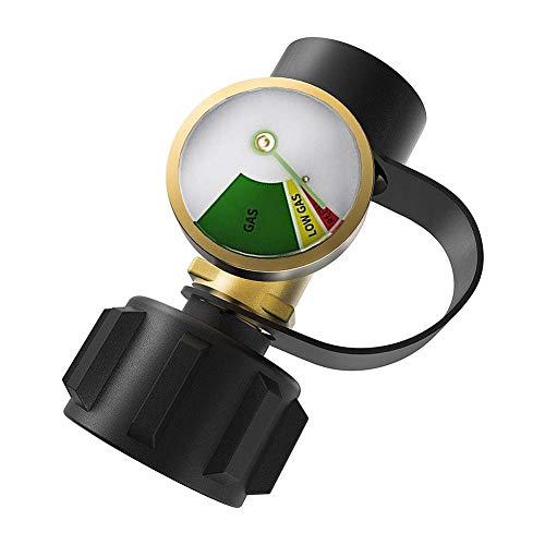 pologyase Gas Niederdruckregler, Gasdruckregler, Druckregler mit Füllstandsanzeige für Wohnmobile, Zylinder, Gasgrill, Heizung und Propanflasche
