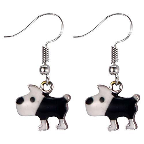 JOE COOL Bow Wow Dog Tartan Drop Earrings