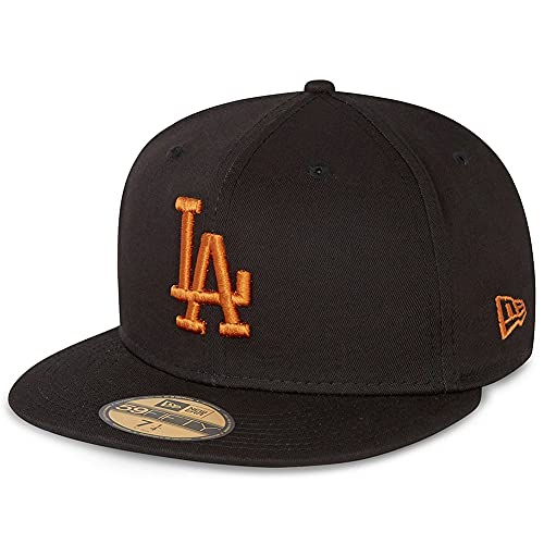 New Era - MLB Los Angeles Dodgers League Essential 59Fifty Gorra ajustada - Negro Negro 7 1/2 (59.6cm)