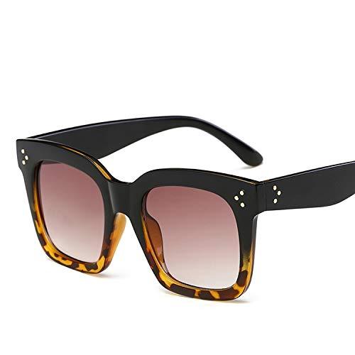 Yi-xir diseño Clasico Hombres Mujeres Vintage Big Frame UV400 Gafas de Sol UV400 para el Viaje de Viaje al Aire Libre Ciclismo Pesca Lineal Moda (SKU : Hc6546d)