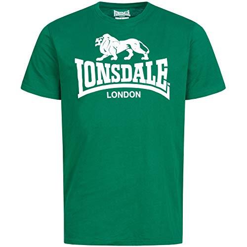 Lonsdale London Herren Logo T-Shirt, Grün, L