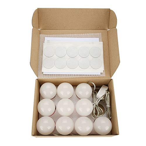 Luces de espejo de tocador, kit de lámpara LED, luz de espejo de maquillaje, luces de maquillaje Bombillas LED Faros delanteros con lente Kit de bombillas LED para maquillaje Tocador Tocador
