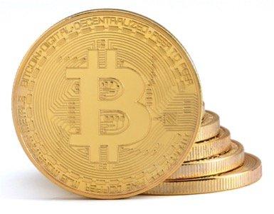 1x Moneta Bitcoin con placcatura in Oro 24 carati | Vero Pezzo da Collezione con Coperchio di Protezione