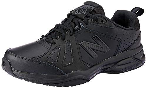 New Balance 624v5, Zapatillas Deportivas para Interior para Mujer, Black, 36 EU X Wide