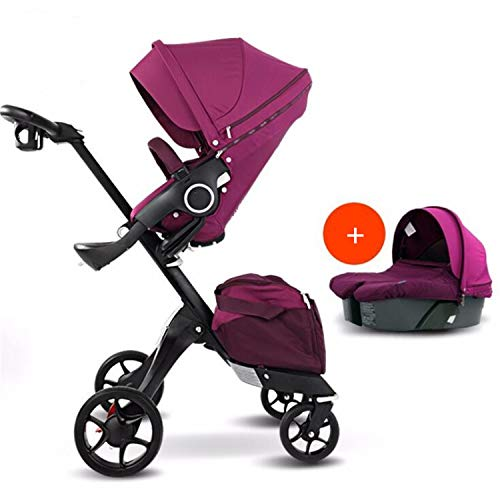Buy Discount BABIFIS 75cm High Landscape Stroller Hand Can Sit Reclining Folding Shock Absorber Baby...