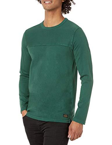 Superdry Mens Narrative Football TOP T-Shirt, Mid Pine, 3XL