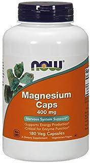 Now Magnesium 400 Mg Capsules - 180 Capsules