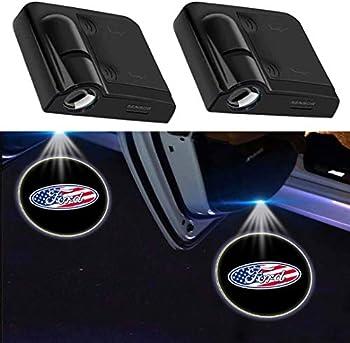 2Pcs for Ford Car Door Projector Lights Led Welcome Laser Door Lights for Ford F150 No Damage Wireless Type Projector Car Door Lights for Ford F250