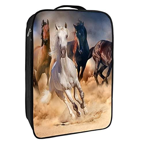 Caja de almacenamiento para zapatos de viaje y uso diario para correr, caballos, bolsa de zapatos, portátil, impermeable, hasta 12 yardas con doble cremallera, 4 bolsillos