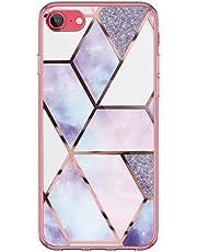 Kinnter - Funda de silicona para teléfono móvil compatible con iPhone SE (2020), funda transparente ultrafina de TPU, antigolpes, diseño original para iPhone SE (2020)