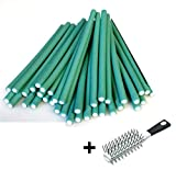 AKTION !!! Papilotten - Flex-Wickler Set 36 Stck. + Kosmetiktasche - 8 mm grün (von deutschem Friseurbedarf-Fachhändler!)