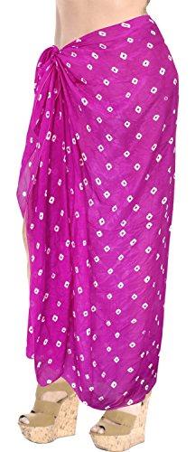 LA LEELA envuelva Encubrimiento Pareo Las Mujeres Ropa de Playa Traje de baño Traje de baño Falda de Color Rosa