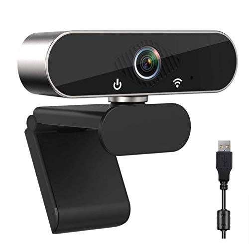 PC Webcam with Microphone and Speakers 1080P Full HD Web Cam Wide Angle Webcam Plug and Play Drive-free USB Camera for Computers Laptop Desktop for YouTube Compatible with Windows 7/8/10/XP