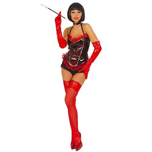NET TOYS Rote Damen Handschuhe Lack Domina Latexhandschuhe Damenhandschuhe Fasching Karneval Lackhandschuhe Accessoires