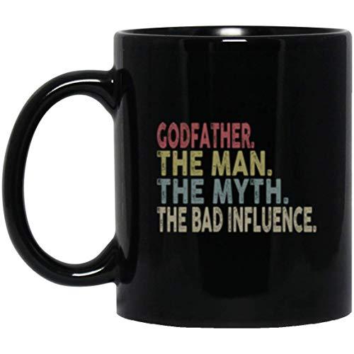 N\A Padrino, el Hombre, el Mito, la Influencia de la Cama, la Mejor Idea de Regalo, Camisa para Hombres, Regalo de cumpleaños, Taza, diseño Especial para el Padrino