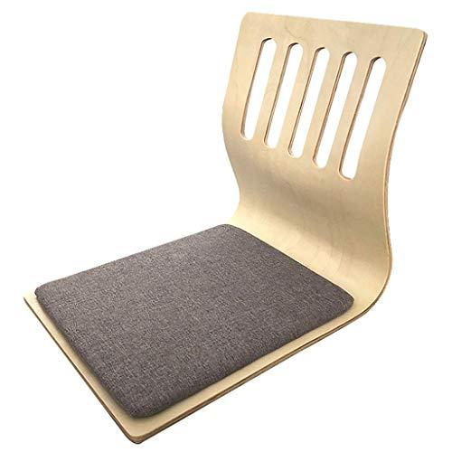 GAXQFEI Tocadores Sedute da Meditazione a Pavimento Sedie da Terra Cuscino per Sedia Pigro con Imbottitura in Tessuto Compensato Laminato Naturale e Legno Design Ergonomico Impermeabile per Soiorno