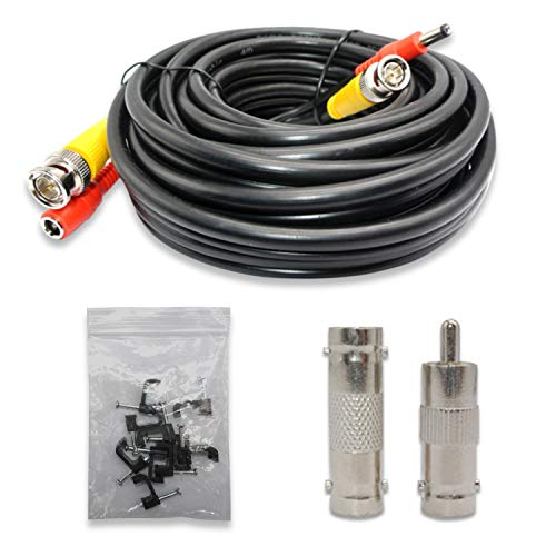 New hoSecurity 20ft Pre-Made All-in-One Siamese RG59 BNC Video and Power CCTV Security Camera Cable for HD AHD DVR SDI Camera Connection (RG 59 HD Cable, 1X20ft) (Black)