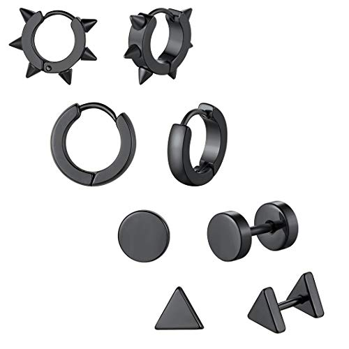 Richsteel Hombre Unisex Mujer 750 chapado en negro base metal