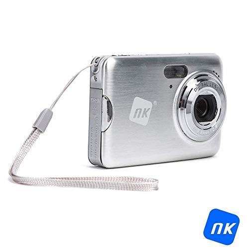 """NK Cámara CC3237-PL- Cámara digital compacta 18 MP, Pantalla 2.7"""" TFT LCD, Zoom 5x, Memoria de 32GB, Color Plata"""
