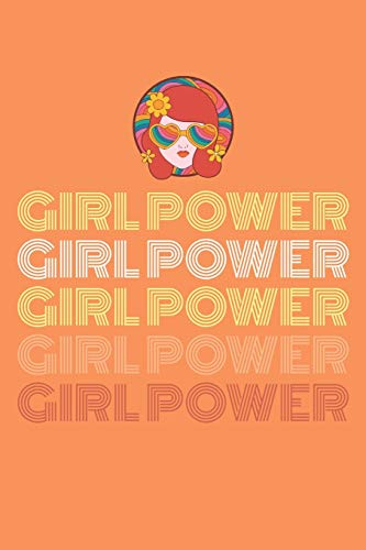 Notizbuch: Girlpower I Frauenpower I Notizbuch im 70er Jahrestil I 120 Seiten I Gepunktetes Papier I Softcover
