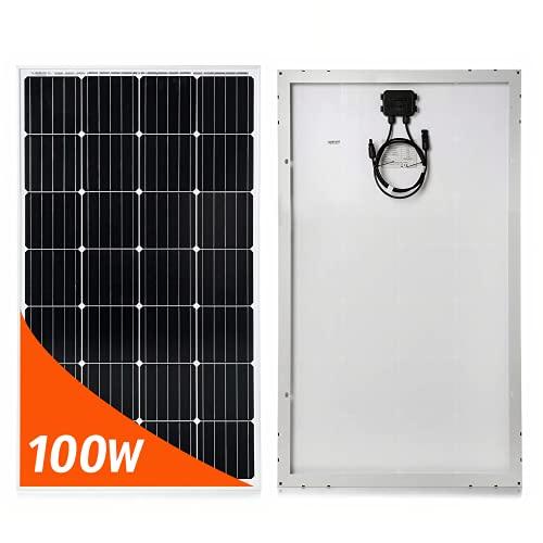 Placa Solar 12V 100W Mono PERC - Panel Solar para Furgoneta Autocaravana Casa Kit Fotovoltaico...