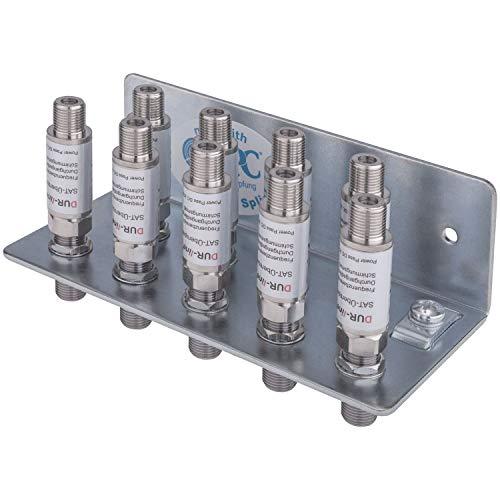 AC-Sat-Corner Erdungswinkel 9 Fach EW 9 HQ Qualität inkl. 9X DUR-line DLBS 3001 Überspannungsschutz