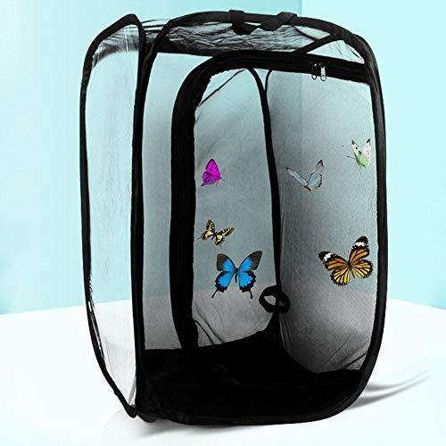 Wateralone Insekt Und Schmetterling Lebensraum Käfig Tragbare Insekt Monarch Schmetterling Netz Netzkäfig Terrarium Pop-up, Insekten-Pflanzenkäfig-Terrarium