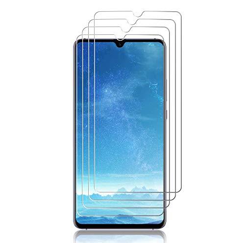 JundD Kompatibel für Huawei Mate 20 X/Mate 20 X 5G Panzerglas Schutzfolie, 4 Packungen [Vorgespanntes Glas] [Nicht Ganze Deckung] Glas Bildschirmschutz für Huawei Mate 20 X Panzerglas Bildschirmschutzfolie