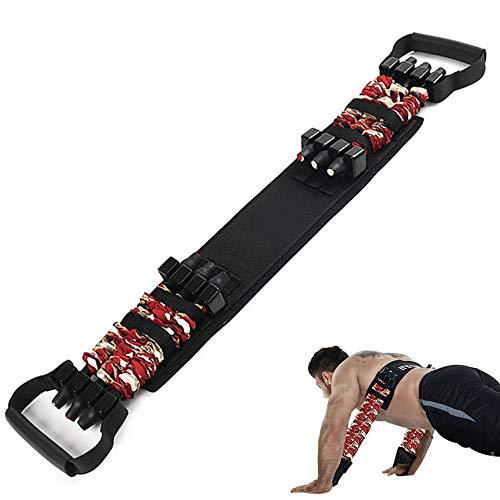 Sunsign, fasce di resistenza regolabili, push up allenamento forza, fitness tracker, espansione toracica rimovibile, sostituire il bilanciere panca a pressione braccio espansore pettorale, 36,3 kg