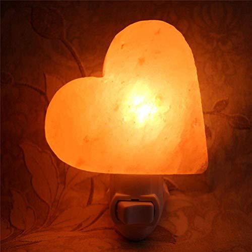 Uonlytech lampada di sale himalayano lampada da parete di cristallo di sale a forma di...