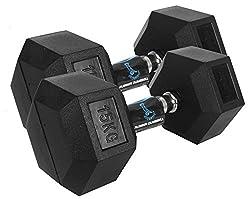 Cockatoo Hexa Steel Dumbbell Set, 1Kg Set of 2 (Black),Cockatoo,Hexa