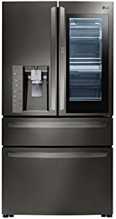 LG LMXC23796D 23 cu. ft. Black Stainless InstaView 4-Door French Door Counter Depth Refrigerator