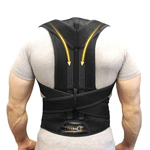 Back Support Belts Posture Corrector Back Brace Improves Posture and Provides For Lower and Upper Back Pain Men and Women -XXL