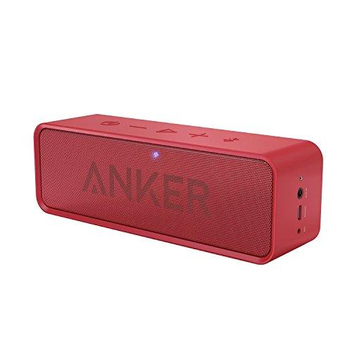 Anker Soundcore ポータブル Bluetooth4.2 スピーカー 24時間連続再生可能【デュアルドライバー/ワイヤレススピーカー/内蔵マイク搭載】(レッド)