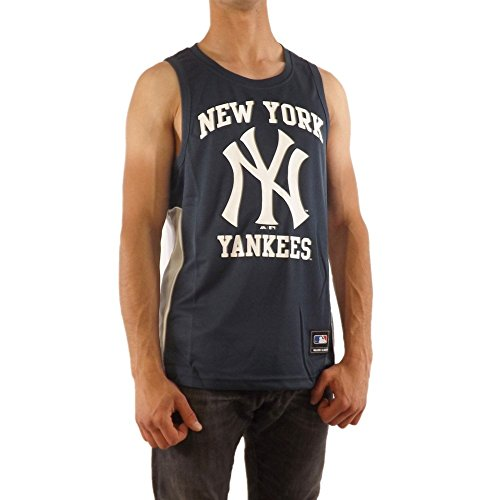 Majestic Camiseta Tirantes (Tank Top) MLB New York Yankees Jonser Poly Mesh Singlet Azul S (Small)