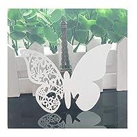 Zhangzidong ホワイトレース名場所カード結婚式の装飾テーブル装飾テーブル名メッセージグリーティングカードベビーシャワーパーティー用品-1_20_PCS