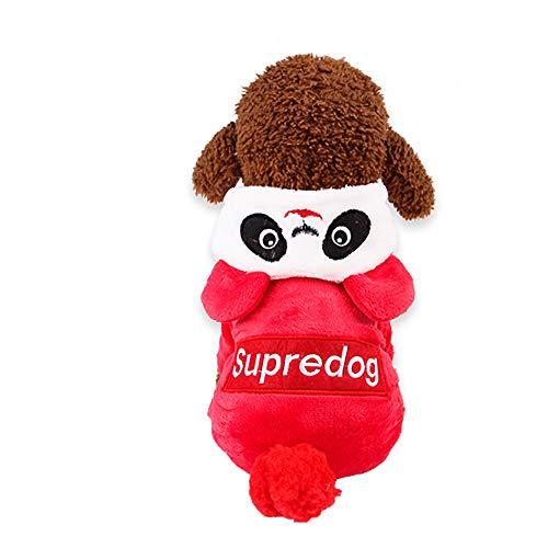 Amphia - Hundehaustier kleidet Vier Fuß roten Panda,Unisex-Haustier-Winterkleidung Welpen-Hundekatze-Mantel-Kleid-Strickjacke-Kleid