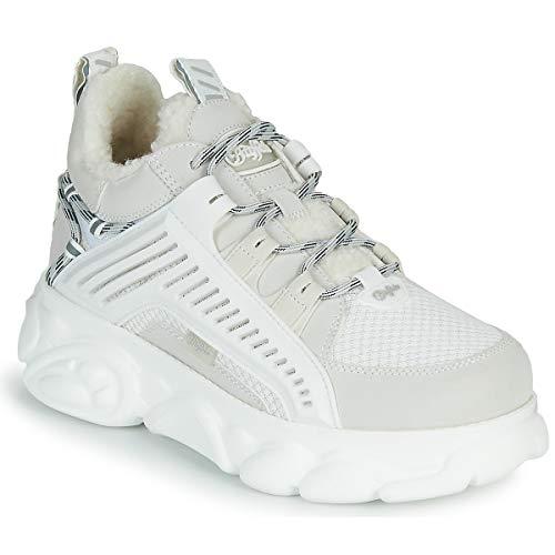 Buffalo Damen Sneaker CLD Hike, Frauen Low Top Sneaker, Ugly-Sneaker dad-Shoe Chunky-Sneaker weiblich Ladies feminin elegant,Weiß(White),38 EU / 5 UK