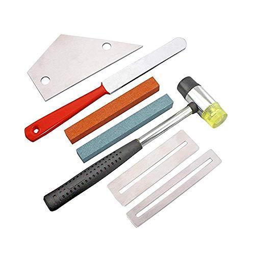 Professionale 7Pcs Chitarra Tool Set comprende Chitarra Fret Tastiera Liutaio File Repair Tool Kit Cura Grinding Pietra Frets Dado, Chitarra Luthier Strumenti per l'installazione Chitarra e Basso