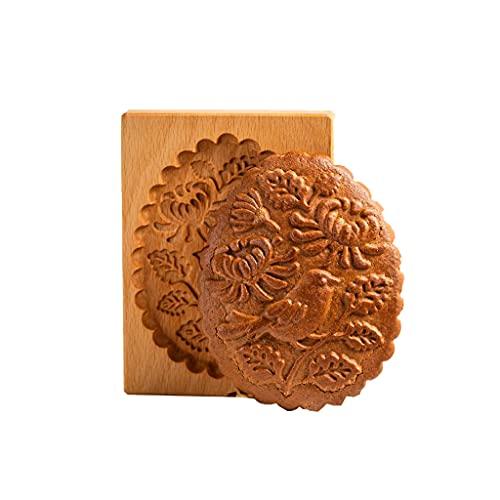 S-TROUBLE Stampi per Biscotti, Stampo per Biscotti Stampi per Biscotti in Legno Divertenti per la Cottura Stampo per Biscotti di Pan di Zenzero Coni di Pino Tagliabiscotti Rosa per Biscotti