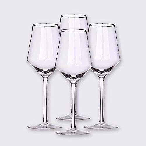 Hecho a mano / 400ml Mano de estilo italiano de estilo italiano de cristal, copas de vino, copas de vino tinto, plomo, libre, libre, cristal, cristal, juego, de 4-21 onzas, mejor para aniversario de c