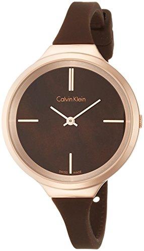 Calvin Klein dames analoog kwarts smartwatch polshorloge met siliconen armband K4U236FK