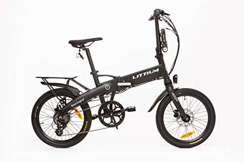 Littium Bicicleta eléctrica Ibiza Dogma 03 10.4A Negra, Adultos Unisex, Plegable