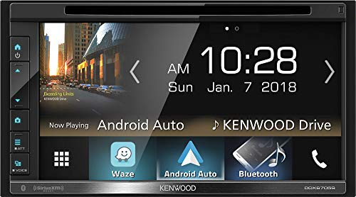 """Kenwood DDX6705S 2 DIN DVD/CD Player 6.8"""" LCD Android iPhone HD Radio Bluetooth, Black"""