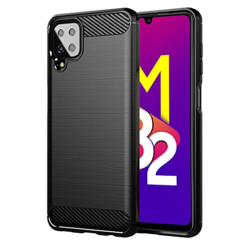 Pikkme Samsung Galaxy M32 4G Back Cover | Shock Proof Matte Soft Silicon Flexible Back Case Cover for Samsung Galaxy M32 4G (Black)